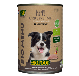 Biofood - Menu pour chiens à base de dinde (12 x 400 g) - Oscar and Kitty
