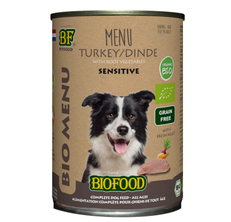Biofood - Menu pour chiens à base de dinde (15 x 150 g) - Oscar and Kitty