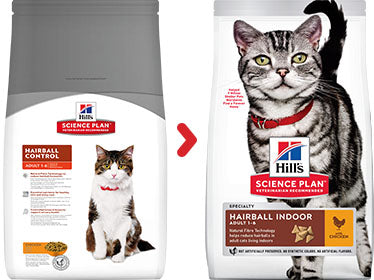 Hill's Science Plan Feline Adult Hairball Indoor Poulet - 3kg - Oscar and Kitty