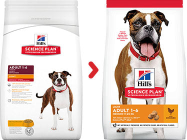 Hill's Science Plan Canine Adult Light au Poulet (12 kg) - Oscar and Kitty