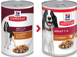 Hill's Science Plan Canine Adult à la Dinde (12 x 370 gr) - Oscar and Kitty