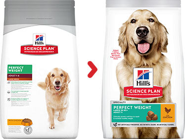 Hill's Science Plan Canine Adult Perfect Weight Large Breed au Poulet (12 kg) - Oscar and Kitty