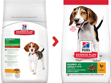 Hill's Science Plan Puppy Medium Poulet (12 kg) - Oscar and Kitty