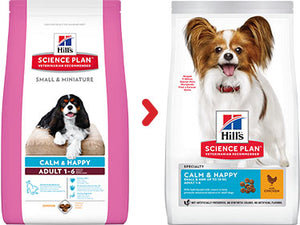 Hill's Science Plan Canine Adult Small & Mini Calm & Happy au Poulet (2 x 1,5 kg) - Oscar and Kitty