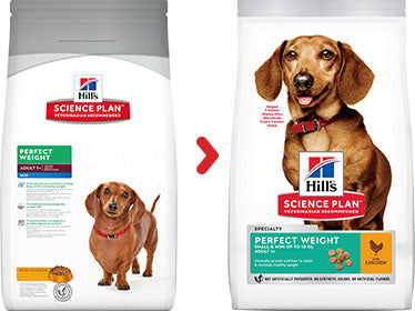Hill's Science Plan Canine Adult Perfect Weight Small & Mini au Poulet (2 x 1,5 kg) - Oscar and Kitty
