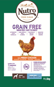 Nutro - Croquettes Grain Free pour Grands Chiens Adultes au Poulet (11,5 kg) - Oscar and Kitty