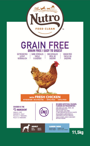 Nutro - Croquettes Grain Free pour Grands Chiens Adultes au Poulet (14,5 kg) - Oscar and Kitty