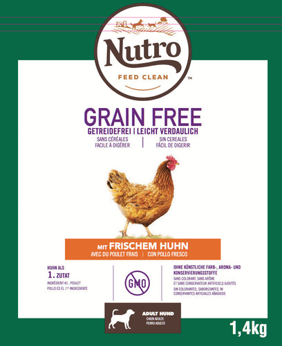 Nutro - Croquettes Grain Free pour Chiens Adultes Moyen au Poulet (11,5 kg) - Oscar and Kitty