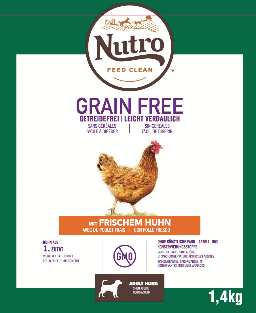 Nutro - Croquettes Grain Free pour Chiens Adultes Moyen au Poulet (14,5 kg) - Oscar and Kitty