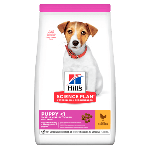 Hill's Science Plan Puppy Small & Mini Poulet (4 x 3 kg) - Oscar and Kitty