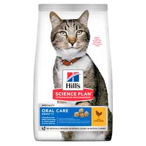 HILL'S SCIENCE PLAN Aliment pour Chat Adulte Oral Care Poulet - 6 x 1,5kg - Oscar and Kitty