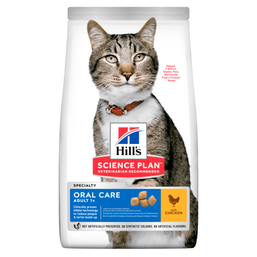 HILL'S SCIENCE PLAN Aliment pour Chat Adulte Oral Care Poulet - 7kg - Oscar and Kitty