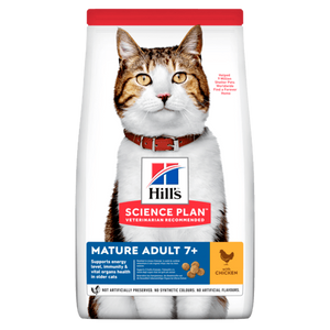 HILL'S SCIENCE PLAN Aliment pour Chat Adulte Mature Poulet - 7 kg - Oscar and Kitty
