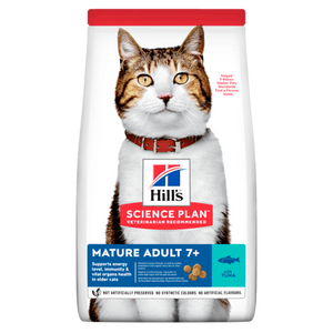 HILL'S SCIENCE PLAN Aliment pour Chat Adulte Mature au Thon - 6 x 1,5kg - Oscar and Kitty