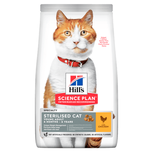 HILL'S SCIENCE PLAN Aliment pour Chat Adulte Stérilisé Poulet - 3kg - Oscar and Kitty
