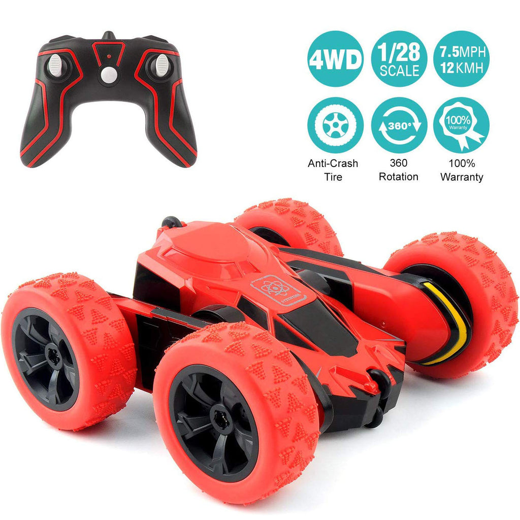 Remote Control Car Electric 4WD RC Stunt Car Off Road Vehicle 2.4Ghz Racing Cars 7.5Mph 360°Rotating Kids Toy Cars Brithday Gift