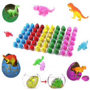 "Totem World Dinosaur Grow Eggs 1.25"", 60 Pack Assorted Color Hatch Eggs for Easter Egg Hunt"