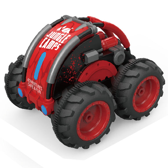 Children's remote control toy car amphibious car four-wheel drive tumbling 360 ° rotating acrobatic car remote control car toy