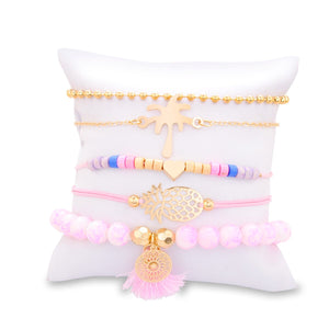 "Maria's Charm Bracelet ""Palm Edition"" (set van 5)"