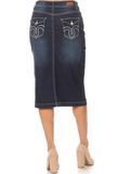 Denim Skirt 77518 Dark Indigo