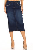 Denim Skirt 77811 Dark Indigo