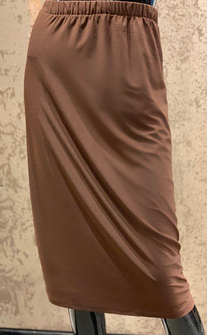 Pencil Skirt -Brown