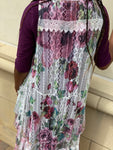 Floral Imprinted Lace Vest