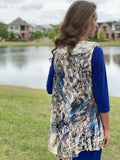 Lace Vest With Ruffle