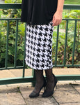 Pencil Skirt - Houndstooth