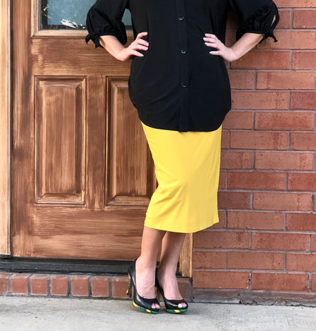 Pencil Skirt - Marigold