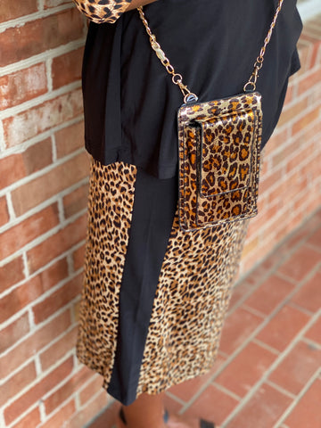 Eden Skirt - Black/Leopard