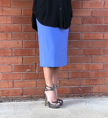 Pencil Skirt - Periwinkle
