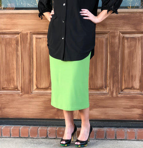 Pencil Skirt - Green Apple