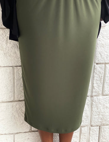 Pencil Skirt - Olive