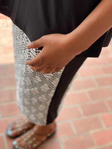 Eden Skirt - Black/White
