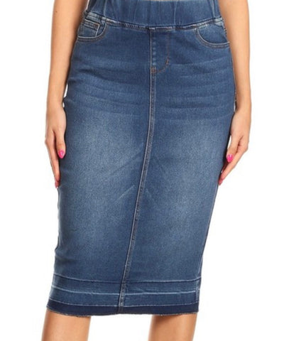 Denim Skirt 77557 Indigo Wash