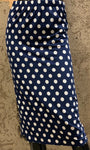 Pencil Skirt - Navy Dot
