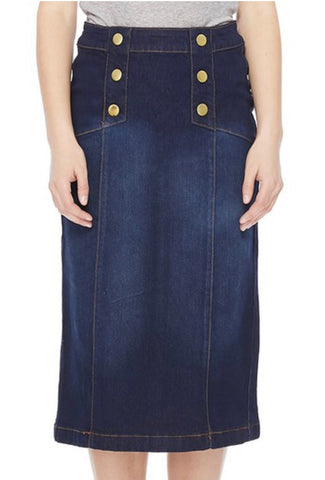 Denim Skirt 77381 Dark Indigo
