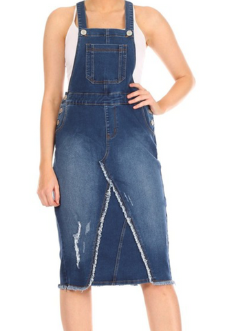 Denim Overall Skirt 97615