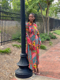 Floral Patchwork Maxi Dress