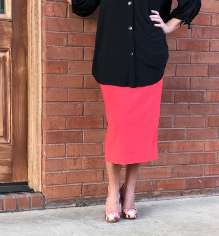 Pencil Skirt - Poppy