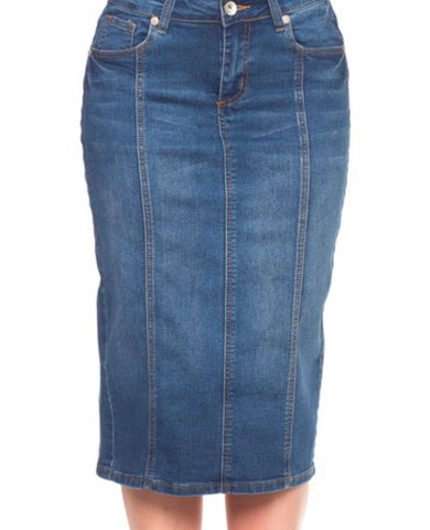 Denim Skirt 77105 Indigo Wash