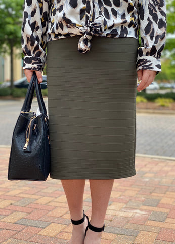 Pencil Skirts - Ribbed