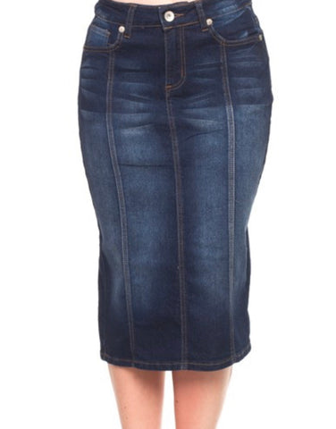 Denim Skirt Indigo Wash 77105