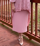 Pencil Skirt - Rose Pink