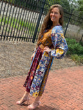 Multi-Print Dress With Smocked Waist