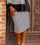 Pencil Skirt - Mini-Houndstooth