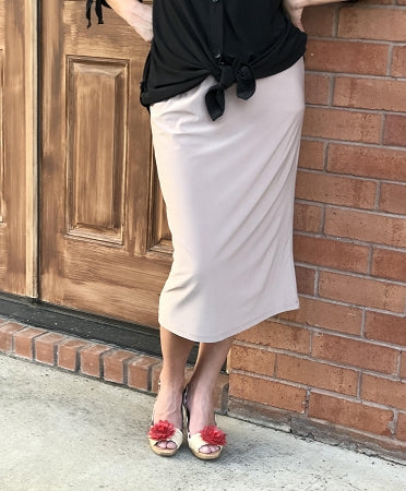 Pencil Skirt - Tan
