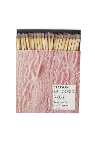 SORBET matches | Maison La Bougie
