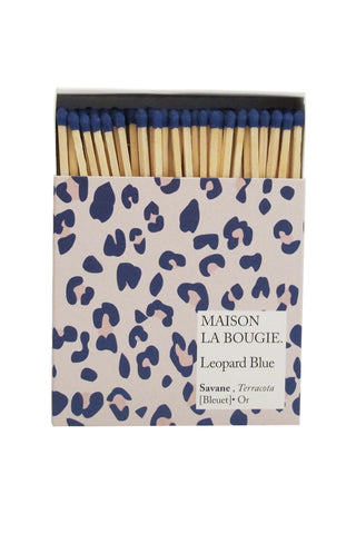 LÉOPARD BLUE matches | Maison La Bougie